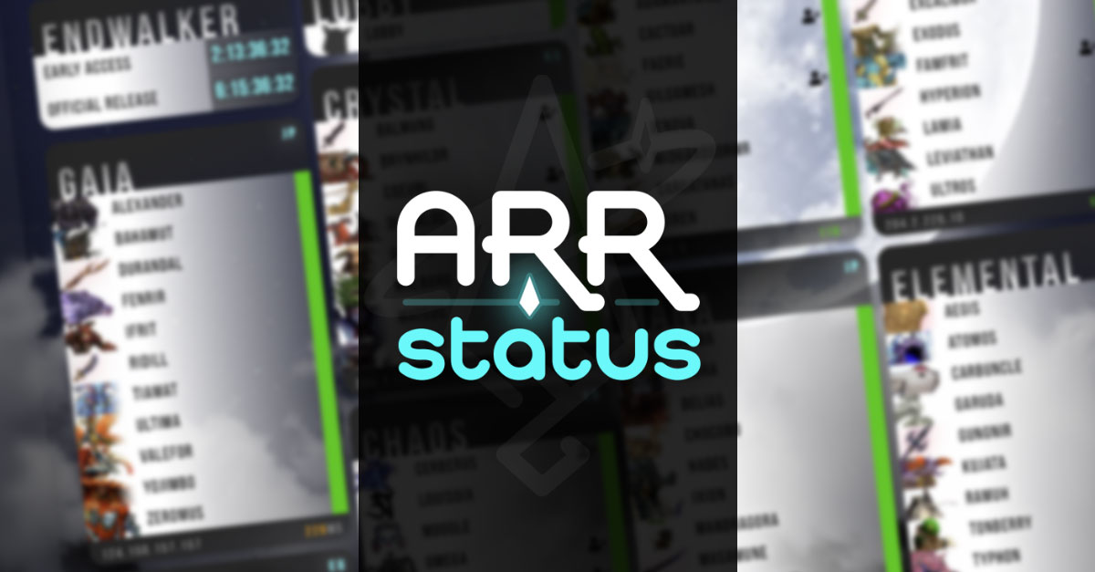 ARRstatus - FFXIV Server Status